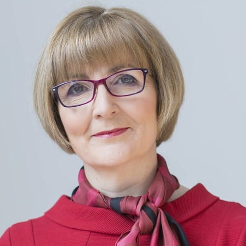Image of Professor Maggie Cusack, Dean of the Faculty of Natural Sciences, University of Stirling
