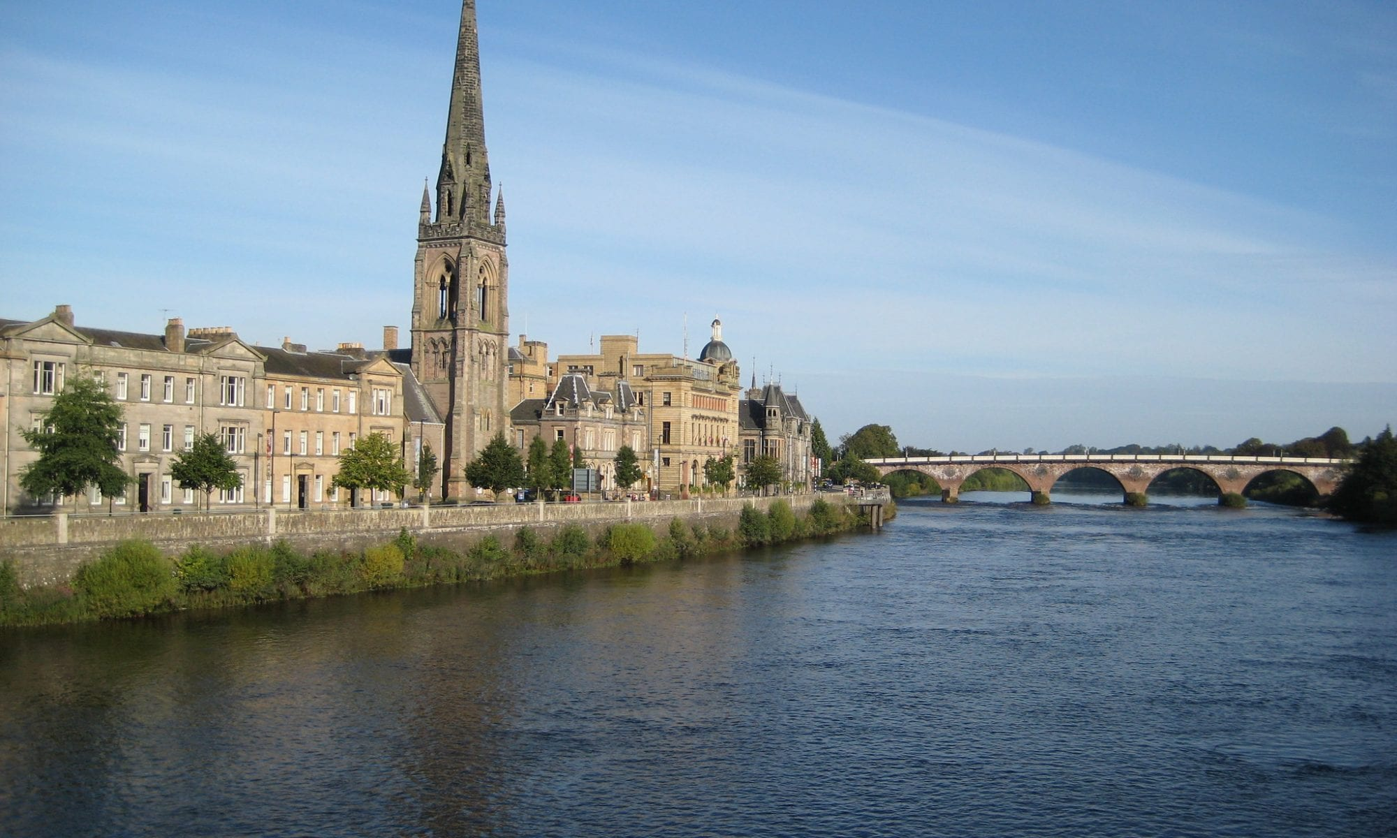 Perth with views along the River Tay